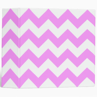 Pink and White Zigzag Binder