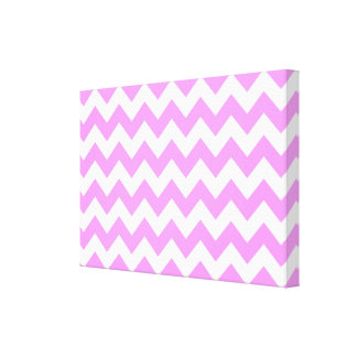 Pink and White Zigzag Canvas Print