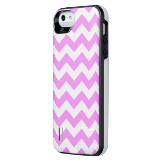 Pink and White Zigzag Uncommon Power Gallery™ iPhone 5 Battery Case