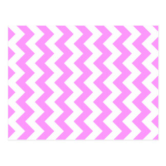 Pink and White Zigzag Postcard