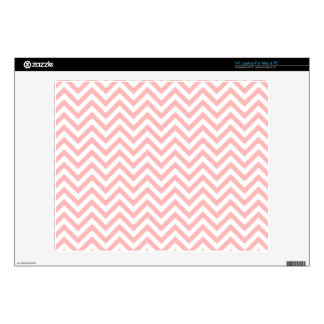 "Pink and White Zigzag Stripes Chevron Pattern Decals For 14"" Laptops"