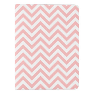 Pink and White Zigzag Stripes Chevron Pattern Extra Large Moleskine Notebook