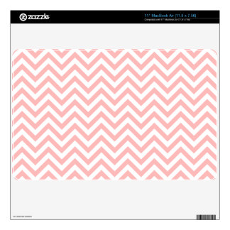 Pink and White Zigzag Stripes Chevron Pattern Skin For MacBook Air