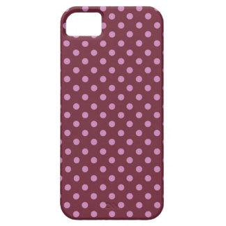 Pink and Wine Polka Dots Modern Pattern PD021 iPhone SE/5/5s Case