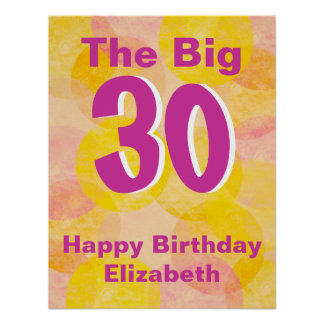 Pink and Yellow Birthday Posters