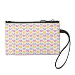 Pink and Yellow Butterflies Pattern Change Purses