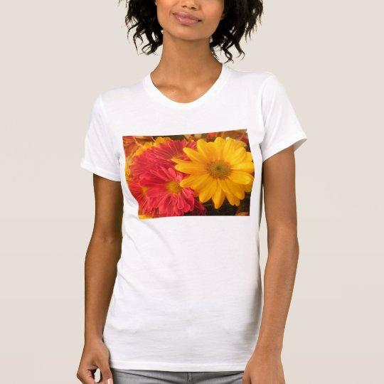 Pink and Yellow Daisies T-Shirt