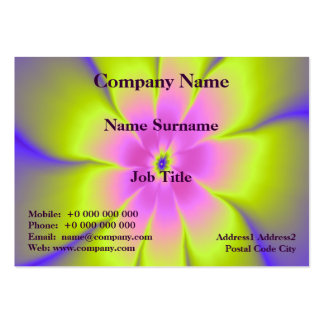 Pink and Yellow Daisy Card Large Business Card