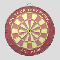 Pink and Yellow Dartboard with custom text