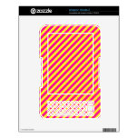 Pink and Yellow Diagonal Stripes Skin For The Kindle