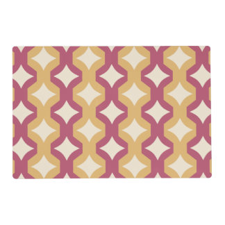 Pink and yellow diamonds placemat