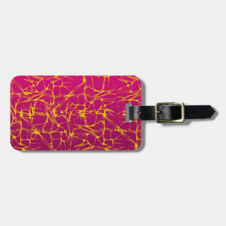 PINK AND YELLOW ELECTRIFIED LUGGAGE TAG