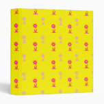 PINK AND YELLOW FLORAL PATTERN BINDER
