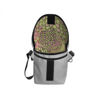 Pink and Yellow Flower Burst Design Courier Bag