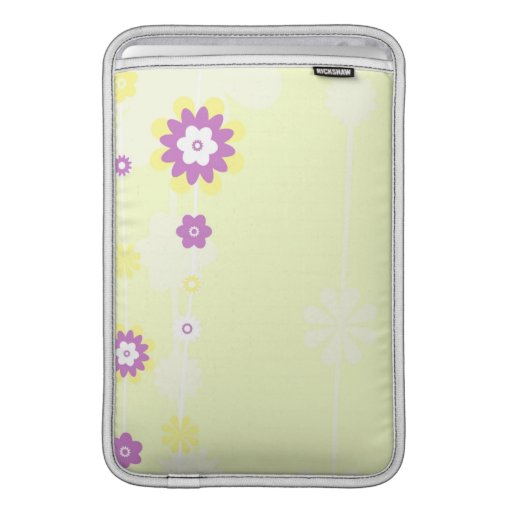 Pink and Yellow Flower MacBook Air Sleeve