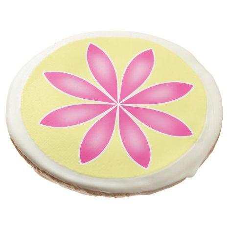 Pink and yellow flower Spring dessert Sugar Cookie