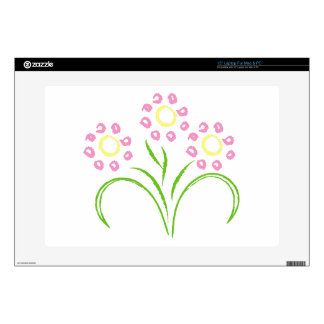 Pink and Yellow Flowers Laptop Skins