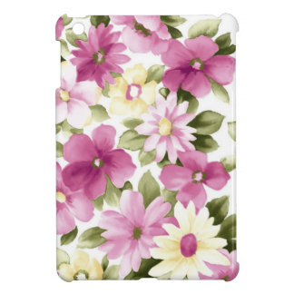 Pink And Yellow Flowers Pattern Case For The iPad Mini