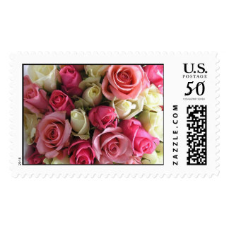 Pink and Yellow Flowers Postage