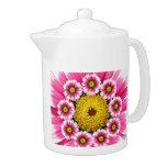 Pink and Yellow Gerbera Daisies Teapot