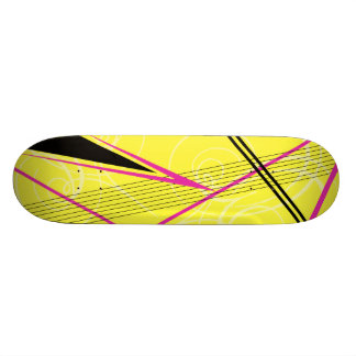 Pink and Yellow Graphic Skateboards