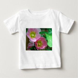 Pink and Yellow Hollyhocks Baby T-Shirt