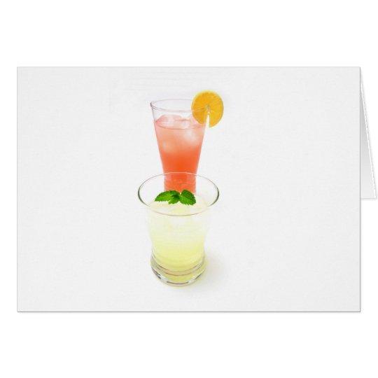 Pink And Yellow Lemonade Card
