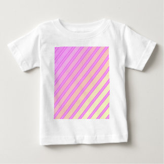 Pink and yellow lines baby T-Shirt