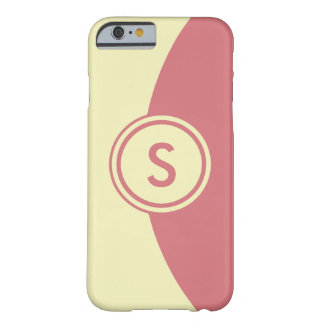 Pink and Yellow Monogram Barely There iPhone 6 Case