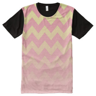 Pink and Yellow Ombre Chevron Pattern All-Over-Print Shirt