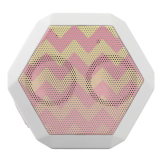 Pink and Yellow Ombre Chevron Pattern White Bluetooth Speaker