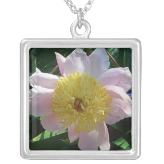 Pink and Yellow Peony Necklace