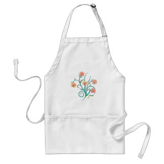 Pink and Yellow Phalaenopsis Orchids Adult Apron