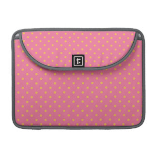 Pink and Yellow Polka Dots MacBook Pro Sleeve