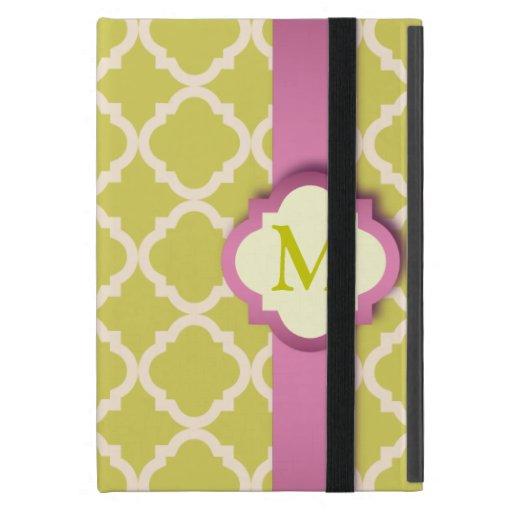 Pink and Yellow Quatrefoil iPad Mini Powis Case iPad Mini Cover