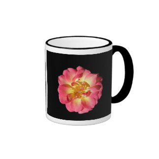 Pink And Yellow Rose Ringer Mug