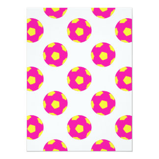 Pink and Yellow Soccer Ball Pattern Card