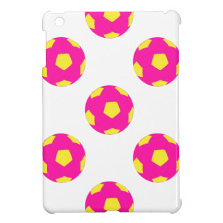 Pink and Yellow Soccer Ball Pattern Case For The iPad Mini