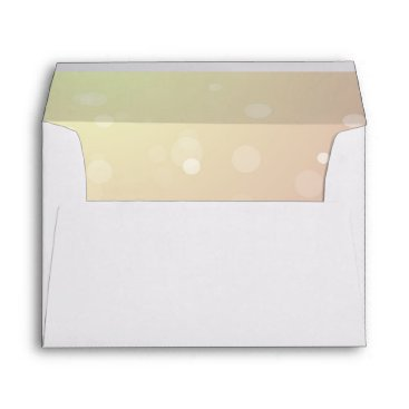 partridgelanestudio Pink and Yellow Sparkles With Return Address Envelope