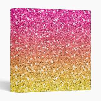 Pink and Yellow Sparkly Bits Binder