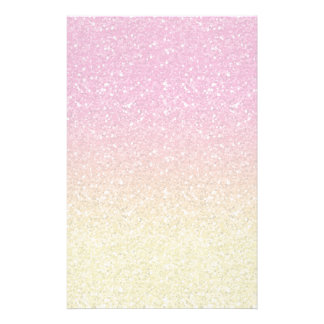 Pink and Yellow Sparkly Bits Stationery