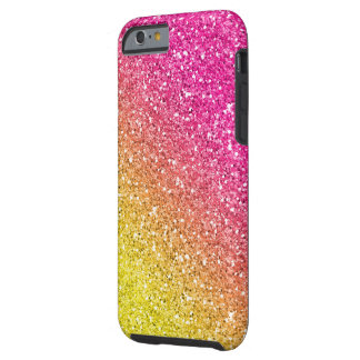 Pink and Yellow Sparkly Bits Tough iPhone 6 Case