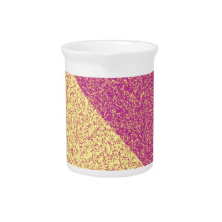 Pink and yellow texture drink pitcher