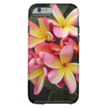 Pink and Yellow Tropical Plumeria Flowers iPhone 6 Case