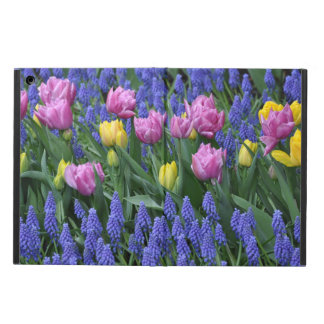 Pink and yellow tulips iPad air case