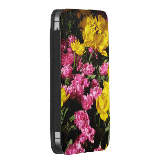 PINK AND YELLOW TULIPS iPhone SE/5/5s/5c POUCH