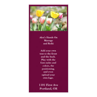 Pink and Yellow Tulips Rack Card