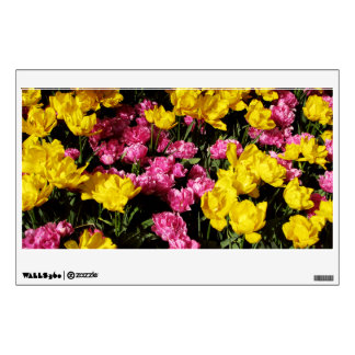 Pink and Yellow Tulips Wall Decal
