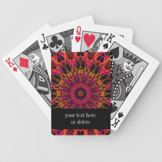 Pink and Yellow Wonder kaleidoscope Bicycle Playing Cards
