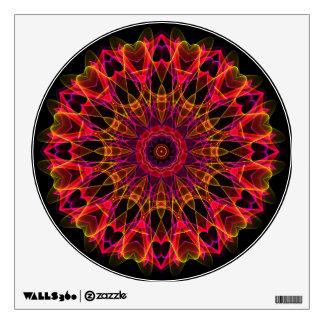 Pink and Yellow Wonder kaleidoscope Wall Sticker